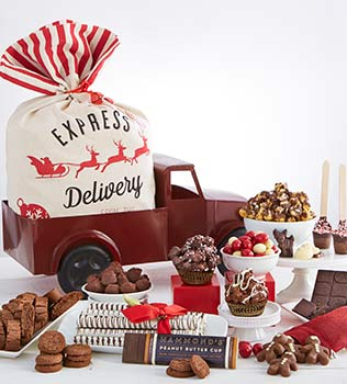 Gift baskets and gourmet food 1800baskets gift basket 8999 chocolate cheer delivery truck 14999 negle Choice Image