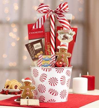 Holly Jolly Sweets Gift Basket