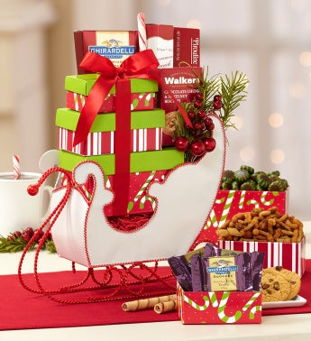 Snowy Inspirations Sleigh Gift Basket