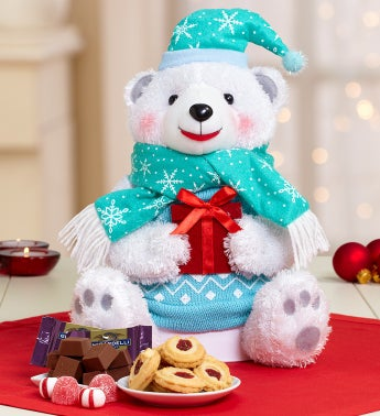 Polar Bear Plush Sweets Tower