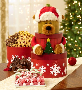Yuletide Bear Sweets Gift Tower