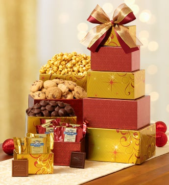 Golden Elegance Gift Tower with Ghirardelli®