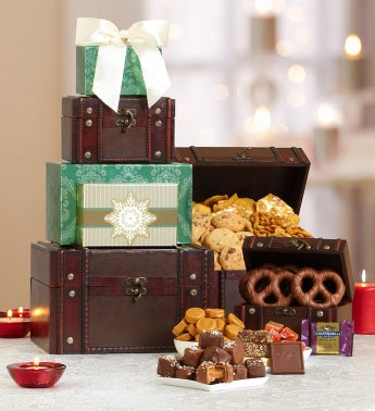 Holiday Treasures Gourmet Gift Tower