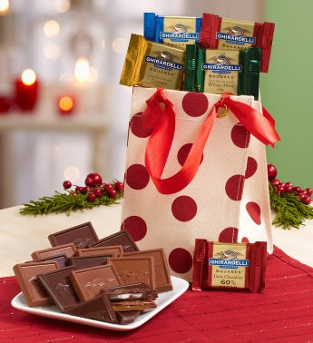 Ghirardelli® Chocolates in Red Dots Tote