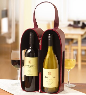 Hamilton Estates® Faux Leather Napa Wine Tote