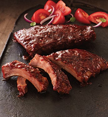 Bbq Pork Ribs - Heat & Serve - Stock Yards - Stock Yards Precooked Baby Back Ribs 12Oz 4Ea