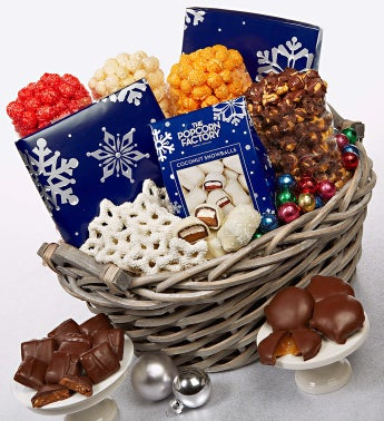 The Popcorn Factory® Snowy Night Basket