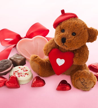 Cheryl's Valentine Bear with Treats