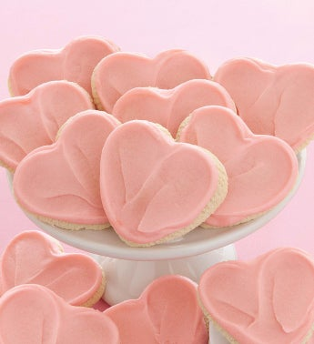 Cheryl's Valentine Frosted Cutout Cookies
