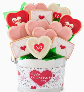 Cheryl's Valentines Cookie Flower Pot