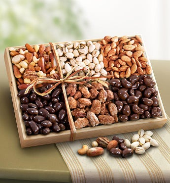 Copper Canyon Sweet & Savory Nuts Assortment Deluxe by 1-800-Baskets - Gift Basket Delivery