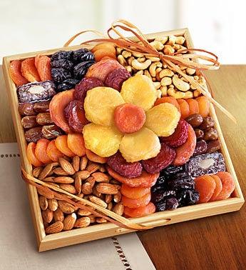 Flower in Bloom Gourmet Fruit  Nuts