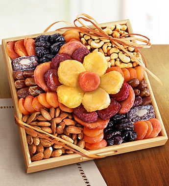 Flower In Bloom Gourmet Fruit & Nuts by 1-800-Baskets