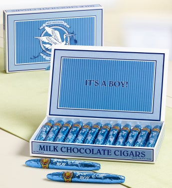 It's A Boy! Milk Chocolate Cigars in Classic Box