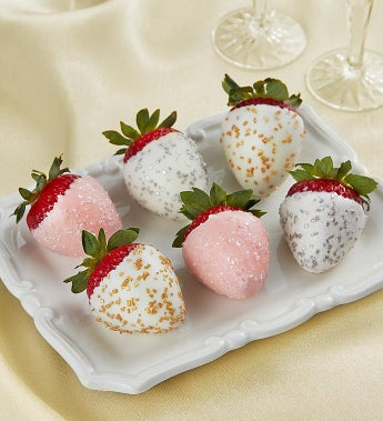 Fannie May Champagne Celebration Strawberries - Fannie May Champagne 6 Count Strawberry