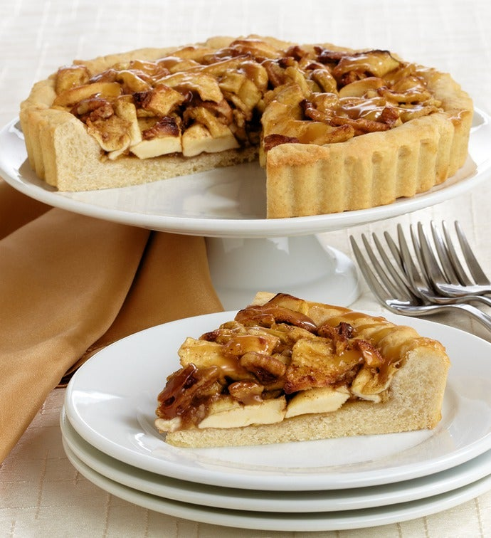 Artisan Baked Apple Caramel Cookie Pie