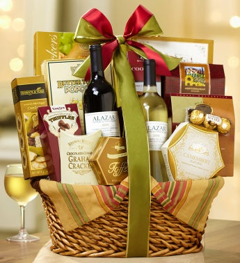 Uncommon Distinction 2 Bottle Wine Gift Basket