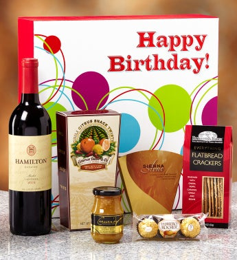 Happy Birthday Vineyard Select Red Wine Gift Box
