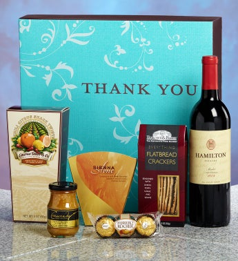 Thank You Vineyard Select Red Wine Gift Box