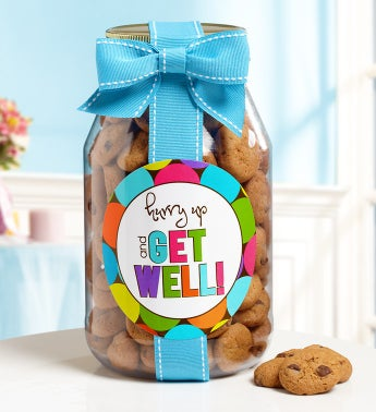 Hurry Up & Get Well! Chocolate Chip Cookie Jar! - Hurry Up & Get Well Cookie Jar