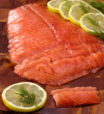 Wild Alaskan Smoked Sockeye Salmon Large by 1-800-Baskets