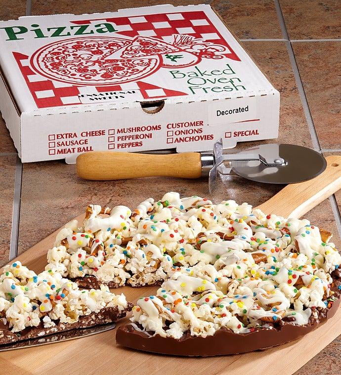 Happy Birthday Chocolate Snack Pizza - Happy Birthday Chocolate Snack Pizza
