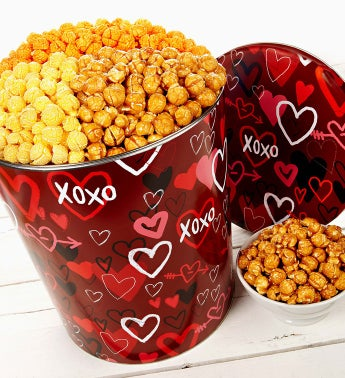 The Popcorn Factory® Graffiti Hearts Popcorn Tin