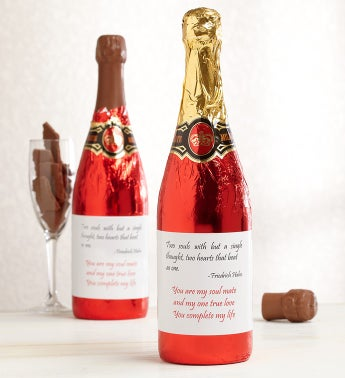 Message on a Bottle Romantic Love Chocolate Gift