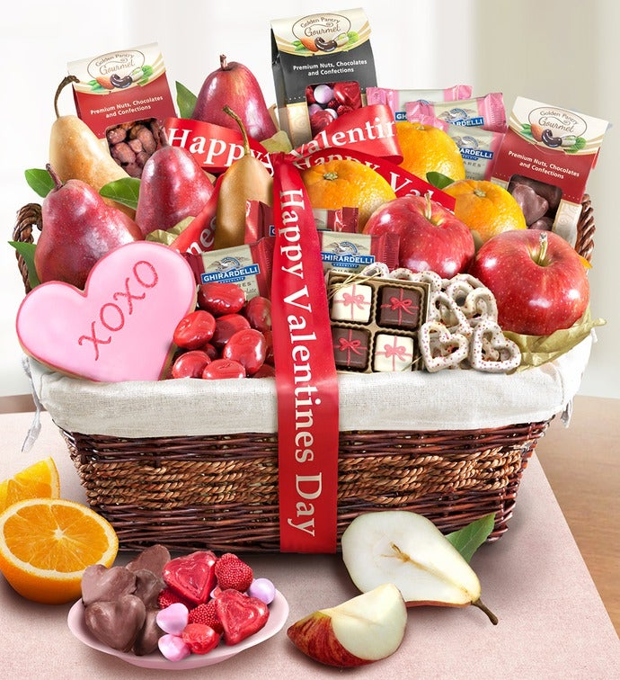 valentine's day deluxe fruit & sweets basket, Ideas