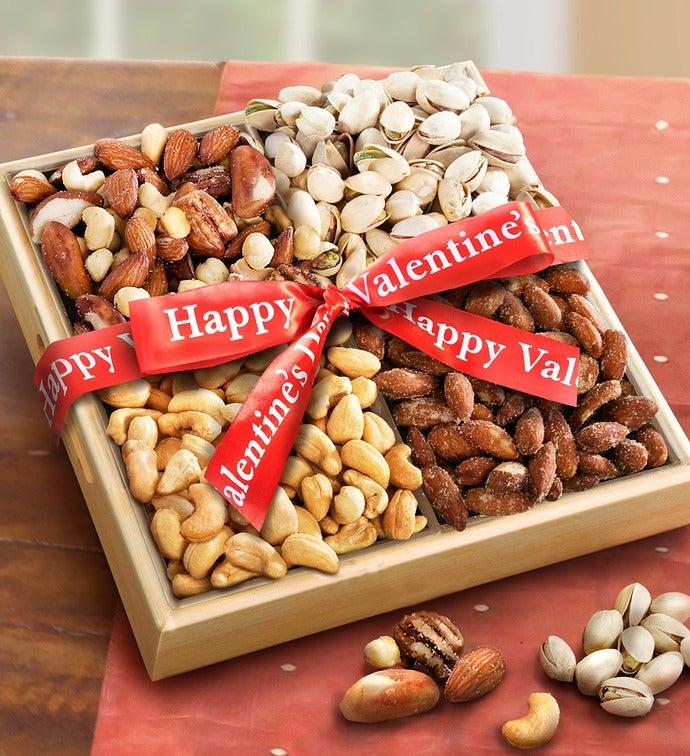 Nuts Over You! Valentine Nut Assortment Basket - Nuts Over You! Valentine Nut Assortment Basket
