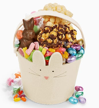 The Popcorn Factory® Felt Bunny Basket
