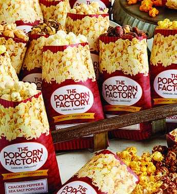 The Popcorn Factory 18-Pack Popcorn Sampler