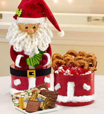 Sweet Treats Keepsake Santa Tower