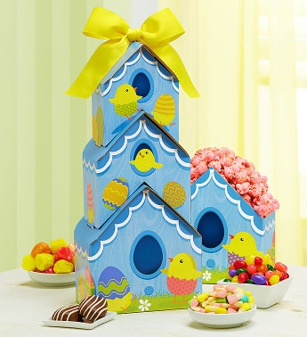 Spring Chicks Sweets Tower