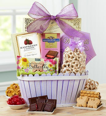 Flowers of Spring Gourmet Basket