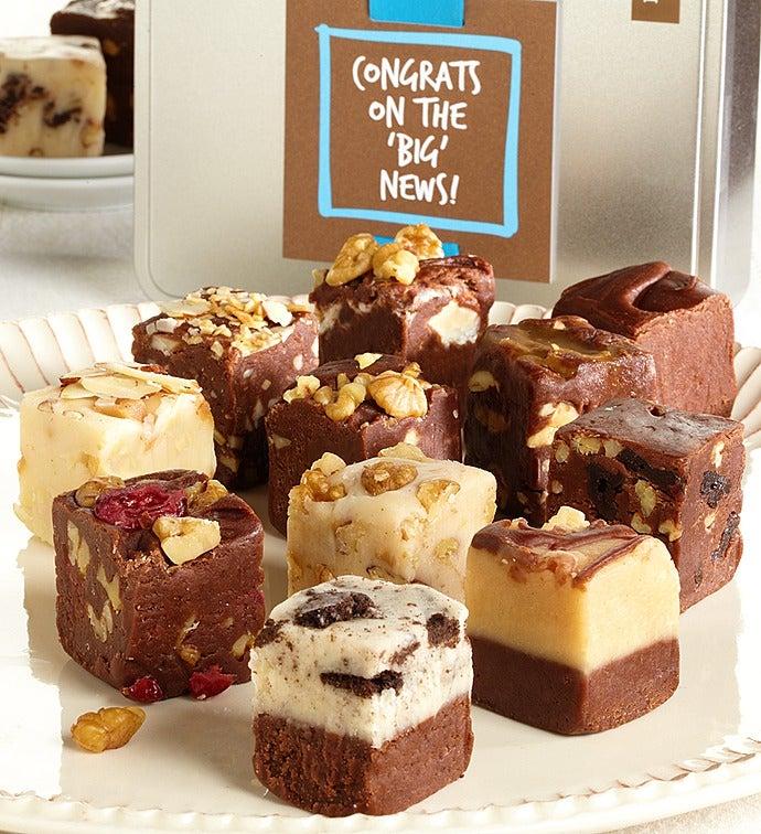 Congrats on the BIG News Gourmet Fudge Tin