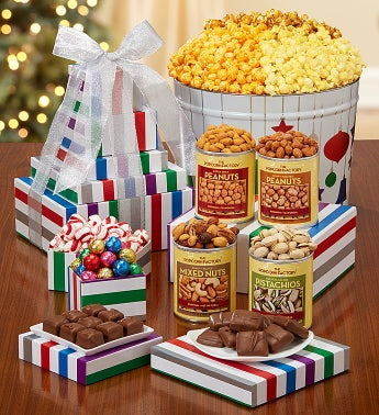 The Popcorn Factory® Jewel Ornament Tin & Tower