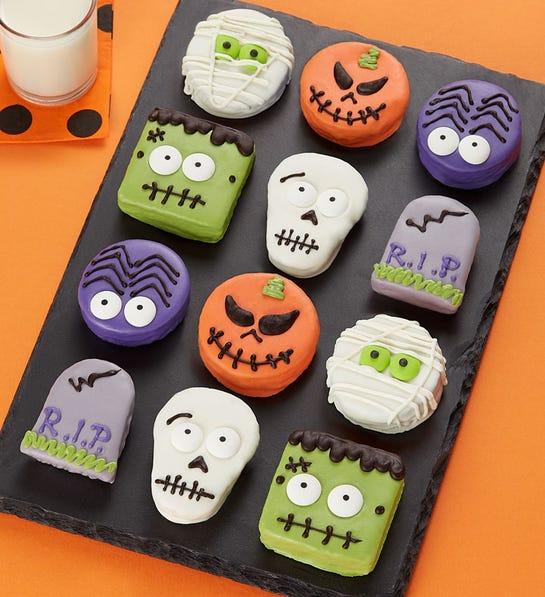 12 Pack Spooky 'n Scary Mini Brownie Cakes