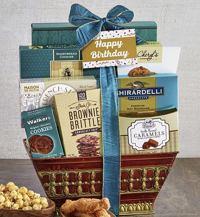 Majestic Grandeur Happy Birthday Gift Basket - Majestic Grandeur Happy Birthday Gift Basket