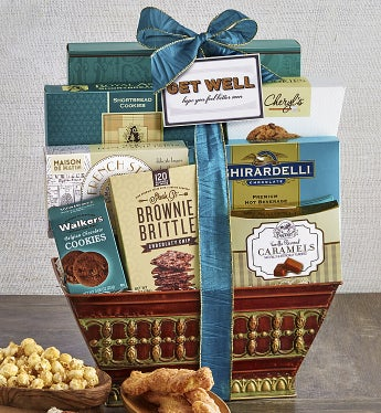 Get Well Soon! Healing Thoughts Gift Basket-Get Well Soon! Healing Thoughts Gift Basket