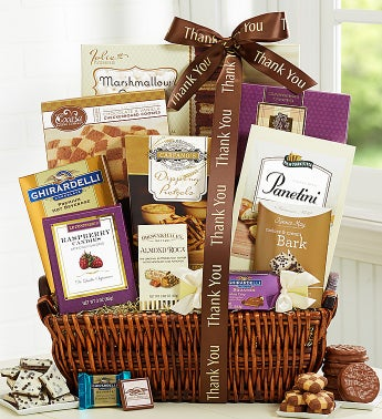 With Much Appreciation Thank You Gift Basket