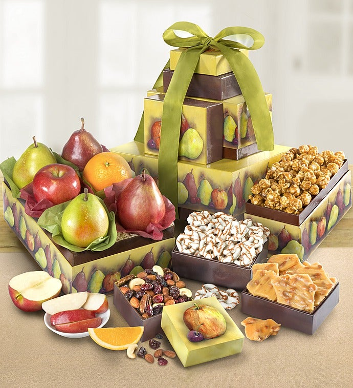 Succulent Fruit & Snacks Tower from 1-800-FLOWERS.COM