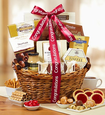 Congratulations Tranquil Afternoon Gift Basket