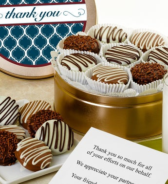 Thank You! Belgian Chocolate Covered Oreo® Tin - Thank You! Belgian Chocolate Covered Oreo® Tin