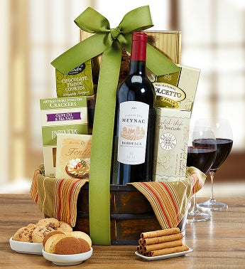 Holiday Cheer Bordeaux Wine Basket