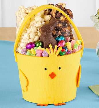 Popcorn Felt Chick Easter Basket
