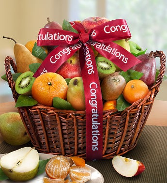 Premier Orchard Congratulations Fruit Gift Basket Congrats by 1-800-Baskets - Gift Basket Delivery