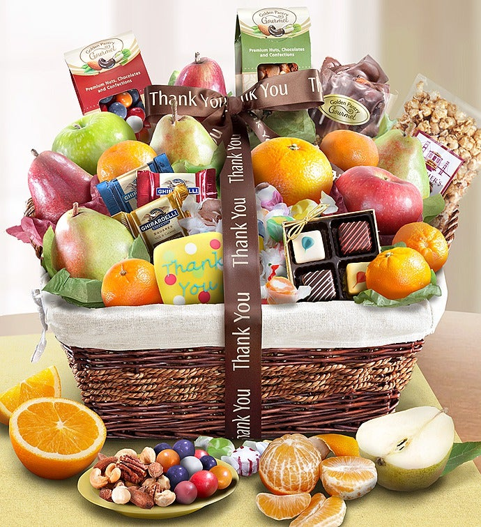 You fruit sweets gift basket thank you fruit sweets gift basket negle Image collections