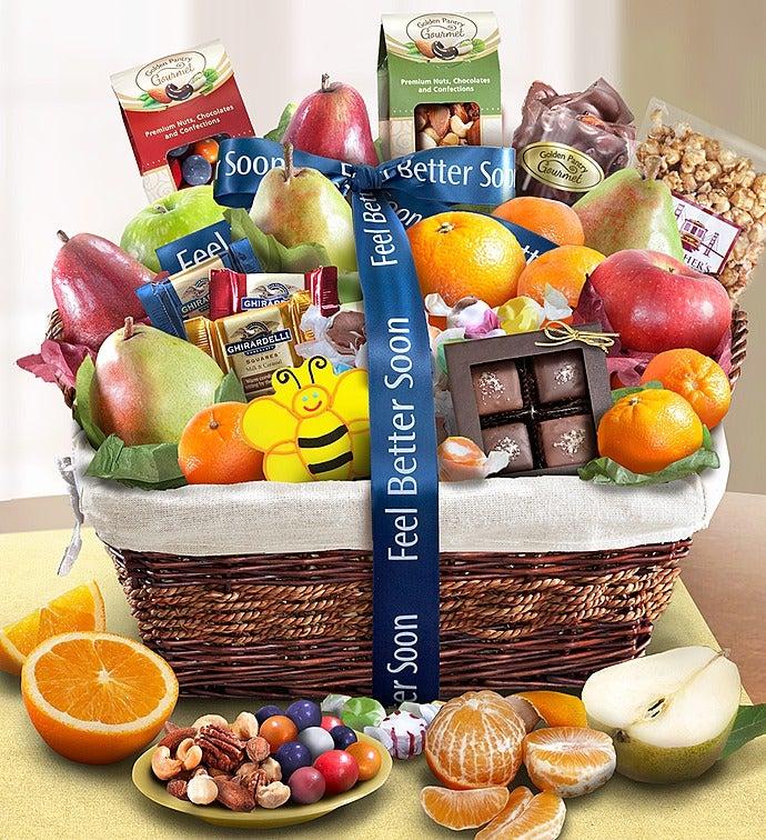 Feel Better Fruit & Sweets Gift Basket - Feel Better Fruit & Sweets Gift Basket