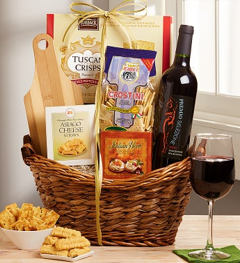 Tuscan Moments Italian Wine & Cheese Gift Basket
